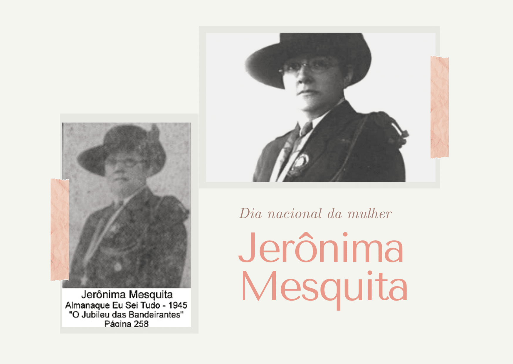 Dia Nacional da Mulher: quem foi Jerônima Mesquita?